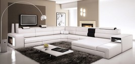 Polaris Italian Leather Sectional Sofa in White - $2,399.00