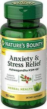 Nature's Bounty Anxiety and Stress Relief, Contains Ashwagandha and L-Theanine f - $14.88