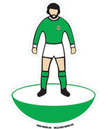 George Best shaped vinyl sticker Northern Ireland football 17x12cm table... - $4.07