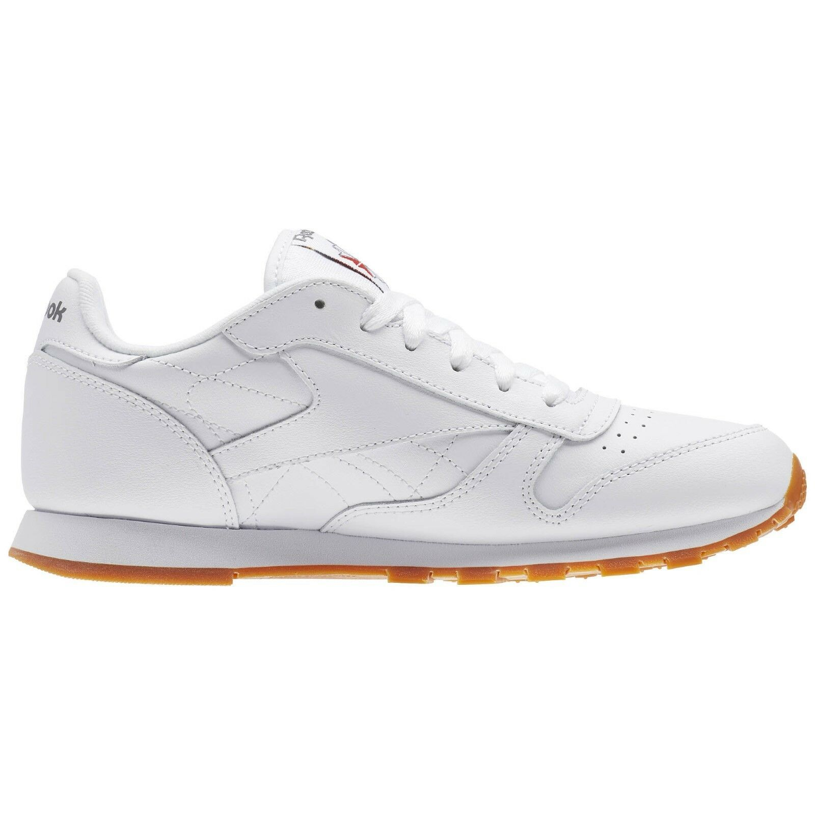 Reebok Classic GS CL V69624 White Gum Leather Shoes Youth 4Y-7Y