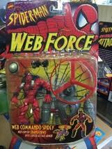 ToyBiz Marvel Spider-Man Web Force 1997 Web Commando Spidey Action Figure - £29.94 GBP