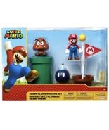 "NEW Super Mario Acorn Plains Diorama 2.5"" Figure Set with Accessories - $34.58"