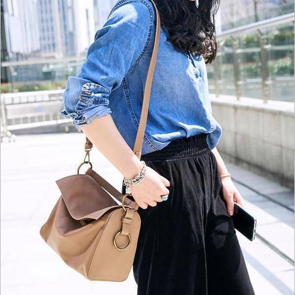 Sale, Flap Cover Shoulder Bag, Women Full Grain Leather Handbag, Crossbody Bag image 3