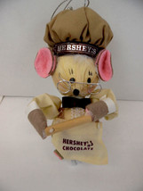 Hershey Chocolate Christmas 1982 Tree Ornament Corn Husks Mouse Rolling ... - $18.52