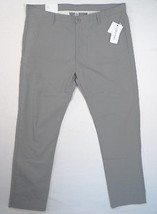 Calvin Klein Slim Fit Gray 100% Cotton Flat Front Casual Pants Mens 38 X 32 NWT - $66.82