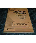 Select Duets for Trombone or Baritone Volume II Rubank No 191 by H Voxman - $8.99