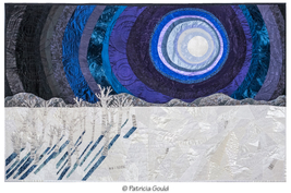 Siberian Moonlight Sonata - mixed media wall art - full moon, Siberia in... - $6,000.00