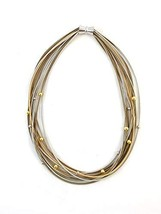 The Island Pearl Piano Wire Necklace Silver, Gold and Bronze - $73.79