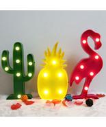 3D LED Flamingo Pineapple Cactus Lamp Romantic Night Lamp Table Marquee ras - $24.50