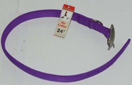 Valhoma 741 24 PR Dog Collar Purple Double Layer Nylon 24 inches Pkg 1 image 1