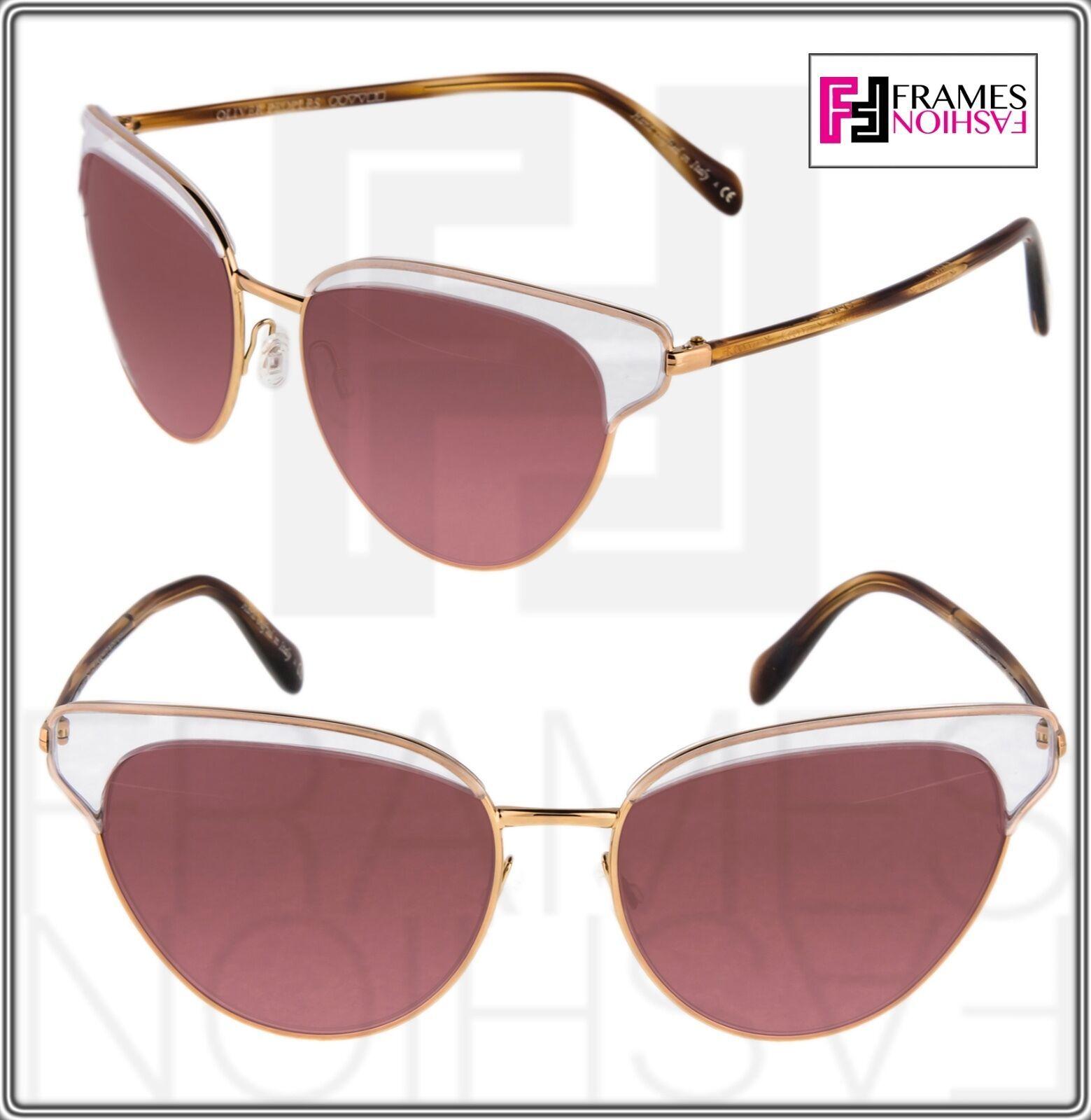 OLIVER PEOPLES JOSA OV1187S Rose Gold Pink Crystal Cat Eye Sunglasses 1187