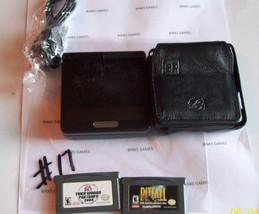 GameBoy Advance SP Onyx Black System - BUNDLE - Leather Case   - $69.99