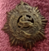 WW1 Army Service Corp Cap Badge - Kings Crown  -  FREE POSTAGE** - $19.27