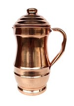 Pure Copper Maharaja Jug Copper Pitcher for Ayurveda Health Benefit - $34.05