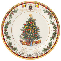 Lenox 2016 Trees Around the World Belgium Christmas Collector Plate New in Box - $32.90