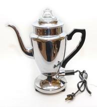 Renfrew Canadian Beauty 4 Cup Chrome Electric Percolator Vintage Mid Cen... - $54.45