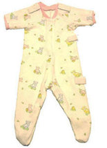 Preemie Girls Teddy Bears-n-Honey Footed Sleeper Size 3-6 Pounds - $17.00