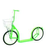 "16"" AMISH KICK SCOOTER NEON GREEN  Foot Bike w/ Basket Handbrake MADE in... - $302.93"
