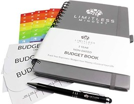 Budget Planner Non-Dated, Finance Journal, Expense Tracker, and Bill Org... - $17.67