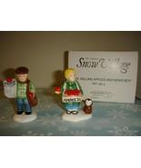 Dept. 56 Snow Village Girl Selling Apples And News Boy Set Of 2 - $12.49