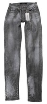 NEW NWT J BRAND WOMEN'S CLASSIC SKINNY JEANS COATED SUTRA GRAY 811C073 SIZE 26