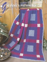 Granny's Pathway, Annie's Crochet Quilt & Afghan Pattern Club Leaflet QA... - $2.95