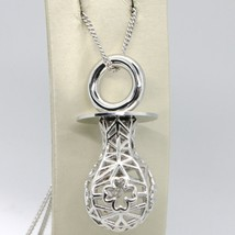 Silver 925 Necklace with Hanging Charm Pacifier Perforated & Knit by Mar... - $394.97