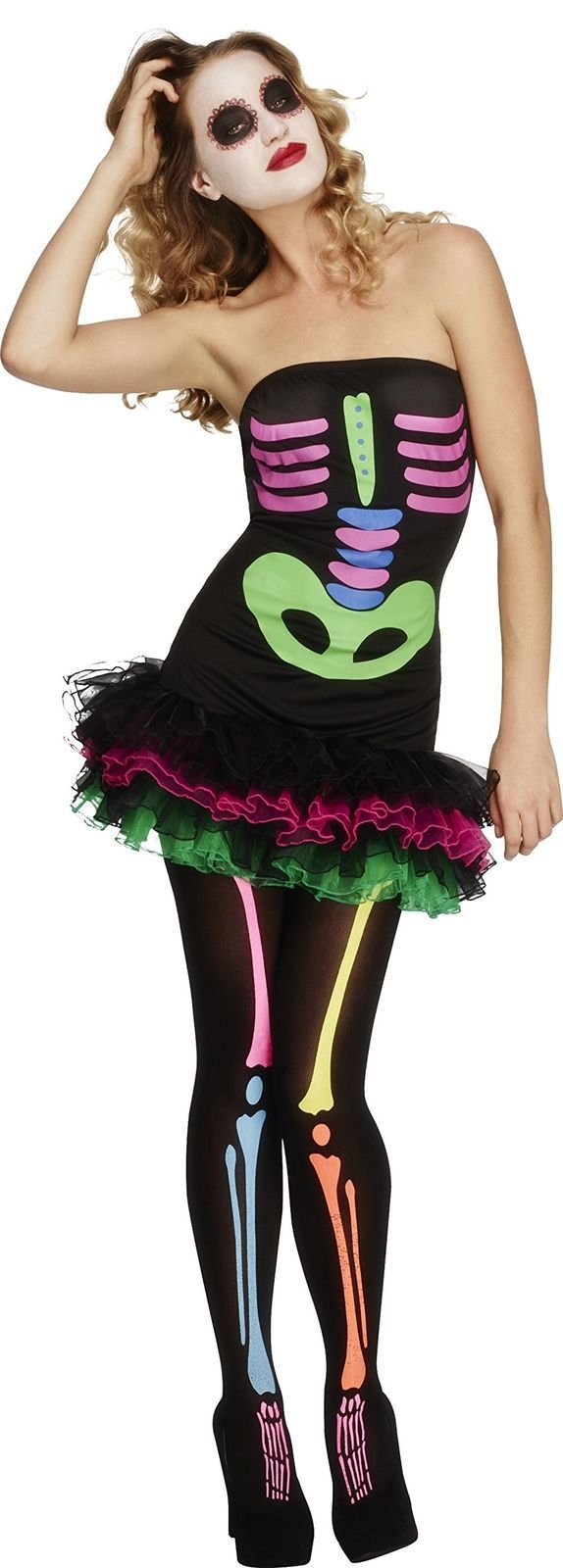 S l1600. S l1600. Fever Smiffys Womenu0027s Neon Skeleton Costume ...  sc 1 st  Bonanza & Fever Smiffys Womenu0027s Neon Skeleton Costume and 33 similar items