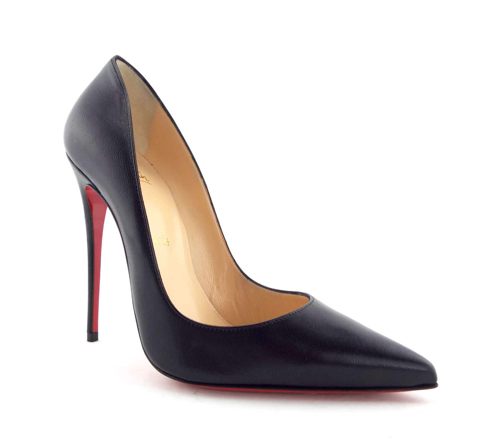 c9c58c62226a CHRISTIAN LOUBOUTIN Size 7.5 SO KATE Black Leather Heels Pumps Shoes 38 -  $549.00