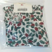 Longaberger Liner For Pie Basket Traditional Holly #222257 NEW Green Red - $19.75