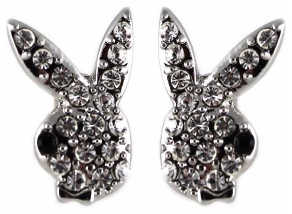 Swarovski Crystal Bunny Stud