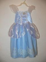 Disney Cinderella Dress Costume Blue Fantasy Play Halloween Size 4-5 - $12.99