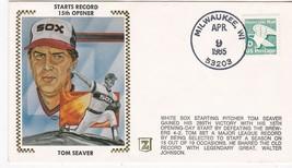 TOM SEAVER STARTS RECORD 15th OPENER MILWAUKEE, WI APR 9 1985 Z SILK - $2.98