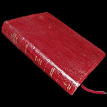 1985 Nelson New American Standard Bible Red Letter Leather Large 9 Pt Te... - $69.99