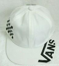 Vans Shoes Mens Distort Jockey White Black Strap back Checkerboard hat cap NWT - $27.71