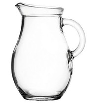 "Mini Glass Pitcher 9 ounces - 5"" High. Child Sized. - $12.47"