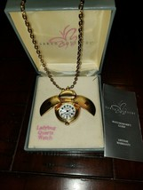 Sarah Coventry Ladybug Watch Necklace With Original Box! - $34.65