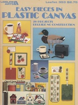 Easy Pieces Leisure Arts Plastic Canvas Pattern Booklet 353 Games Magnet... - $3.95