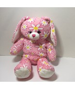 """Pink with White Daisies Bunny Plush Stuffed Animal Build a Bear 16"""" - $9.74"""