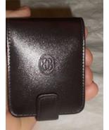 Buxton Double Lipstick Leather Mirror Case, Brown-See Description for Pics - $25.25