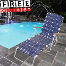 Patio Chaise Lounge Folding Web Outdoor Furnitu... - $87.11