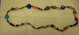 29 INCH MULTI COLORED LONG BEADED NECKLACE - $9.89