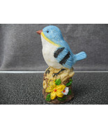 Blue Bird Hand painted Figurine Statue Perched on rocks Collectible Art - $15.99
