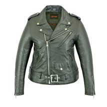 WOMEN'S LIGHTWEIGHT CLASSIC PLAIN SIDE FITTED STYLE MOTORCYCLE JACKET SI... - $132.61