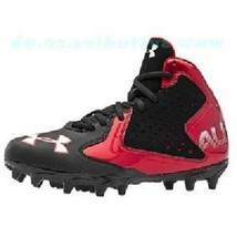 New in Box Under Armour Kids' Fierce Phantom Mc Football Shoe Red/Black ... - $33.25