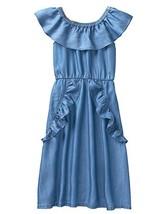 Crazy 8 Little Girls' Ruffle Off-The-Shoulder Dress, Rinse Denim, 8 - $62.29