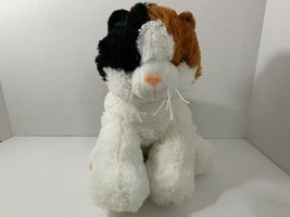 "Teddy Mountain calico cat plush 15"" black white brown kitten large stuffed toy - $8.90"