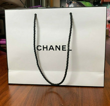 Chanel Paper Shopping Bag Gift White Logo Authentic 7×9x2 Inch Ship Fast... - $18.14
