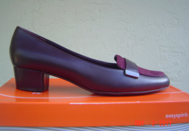 Nwt Easy Spirit Wine Leather Pumps Loafers Size 8.5 W Wide $79 - $51.55 CAD