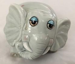 """Blue Ceramic 3.5X5"""" Humor Figurine Horton Elephant Piggy Bank - $23.92"""